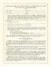 01 questionnaire for study of local parish for sermon contest 1928 1 thumb